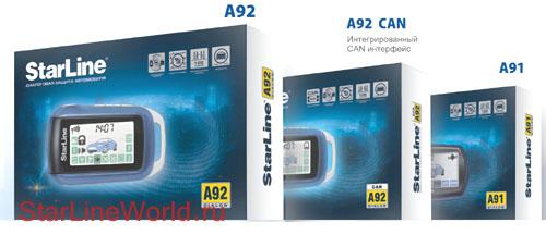 автосигнализация starline a92 4x4 can a91 dialog